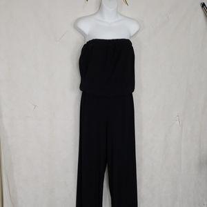 Vintage Jsw Black sleeveless jumpsuit size Large